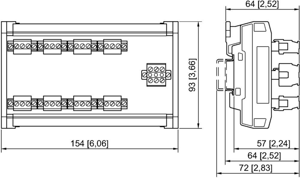 Feldbustechnik ISbus Feldgeräte Koppler 8 Spurs für Zone 2