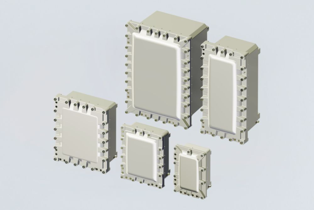Aluminium empty enclosures with Ex d and Ex t types of protection