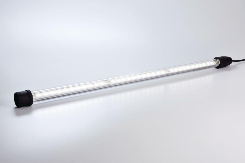 Tubular light fitting with led